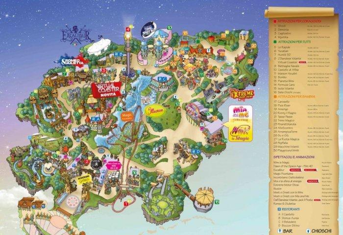 Rainbow magicland mappa